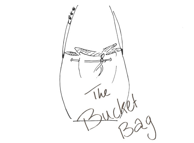 Bucket bag drawing