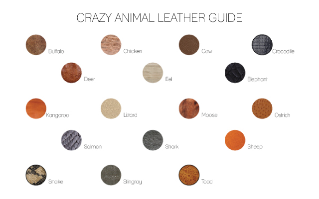 Crazy animal leather guide